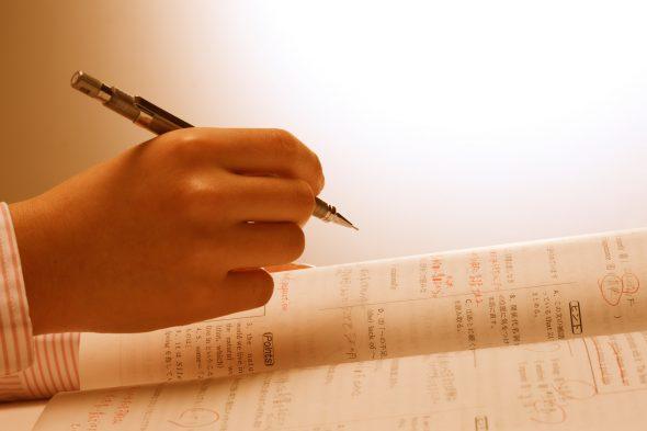 英語の勉強をする様子